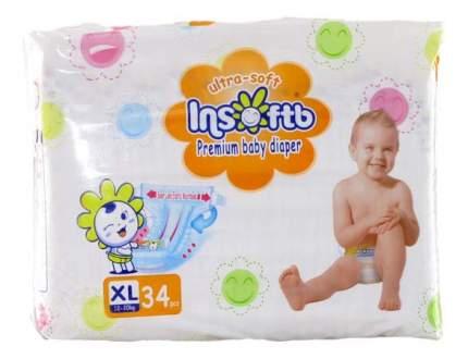 Подгузники Insoftb Premium Ultra-Soft XL (12-20 кг), 34 шт.