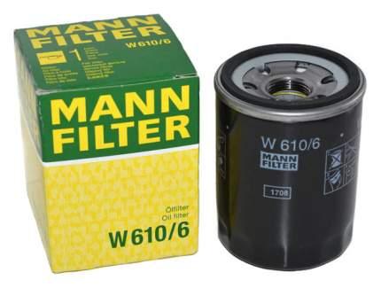 Фильтр масляный двигателя MANN-FILTER W610/6