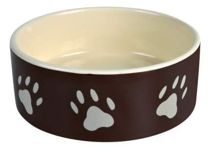 Одинарная миска для собак TRIXIE, керамика, белый, коричневый, 0.3 л