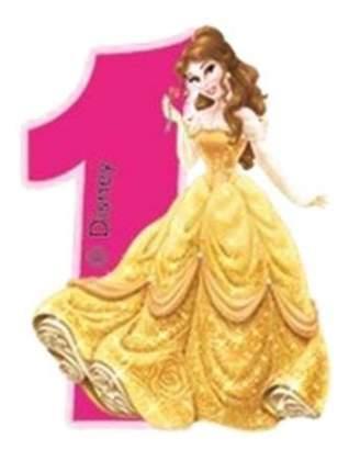 Свеча-цифра PROCOS Принцессы 1 год