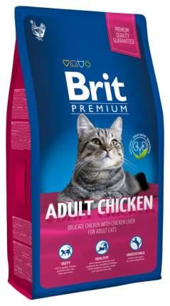 Сухой корм для кошек Brit Premium Adult Chicken, курица, 8кг