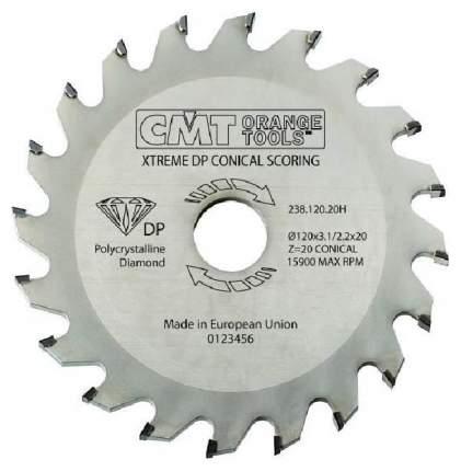 Диск пильный 125x20x3.1-3.7/ 5° CON Z=20 (DIA) CMT 238.125.20H