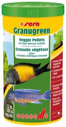 Корм для растительноядных цихлид Sera GRANUGREEN, гранулы, 1 л