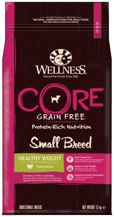 Сухой корм для собак Wellness CORE Small Breed Healthy Weight, птица, 1,5кг