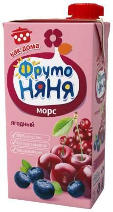 Морс ФрутоНяня Клюква с черникой и вишней с 3 лет 500 мл