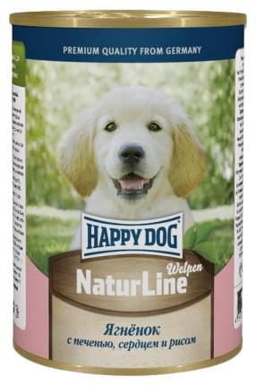 Консервы для щенков Happy Dog NaturLine, с ягненком, печенью, сердцем и рисом, 400г