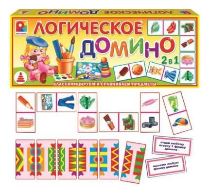 Семейная настольная игра Домино логическое Предметы 1 Радуга с-557