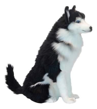 Мягкая игрушка Hansa Собака Хаски Сидящая 37 см Черный белый