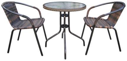 Комплект мебели Afina Garden Асоль-1B TLH-037B/087B-D60 Brown (2+1)