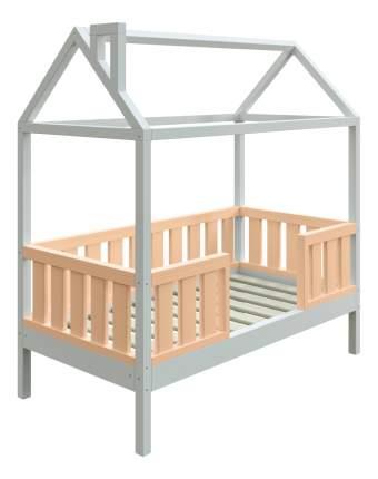 Кровать-домик Трурум KidS Сказка широкий бортик персиково-белая
