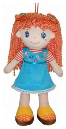 Кукла Creation Manufactory Рыжая в глубом платье мягконабивная, 20 см