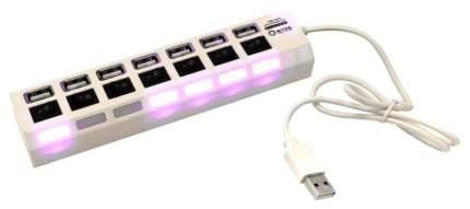 Концентратор 5bites HB27-203PWH 7*USB2,0, блок питания 5В-2А, 1метр, Белый