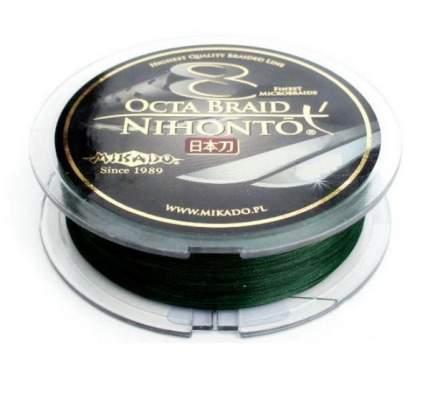 Шнур плетеный Mikado Nihonto Octa Braid Green 0,26 мм, 150 м, 22,6 кг