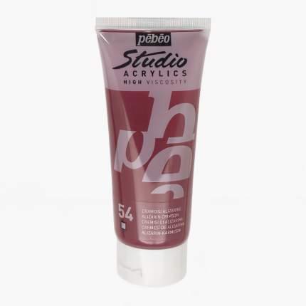 Акриловая краска Pebeo Studio Acrylics 831-054 ализарин малиновый 100 мл