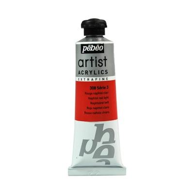 Акриловая краска Pebeo Artist Acrylics extra fine №3 светло-красный нафтоловый 37 мл