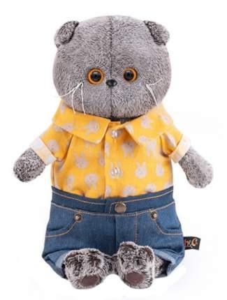 Мягкая игрушка BUDI BASA Басик в джинсовых шортах и желтой рубашке, 19 см