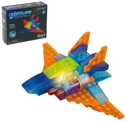 Светящийся конструктор Crystaland «Космический разведчик», 4 в 1, 61 деталь Sima-Land