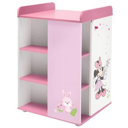 Пеленальный комод Polini kids Disney baby 2090 Минни Маус-Фея с дверью, белый-розовый