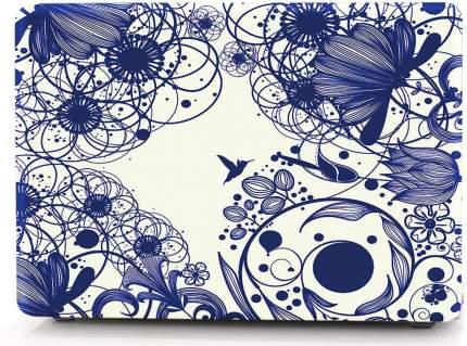 Накладка i-Blason Cover для MacBook Pro 13 A1706/A1708 (Blue Line Flowers)