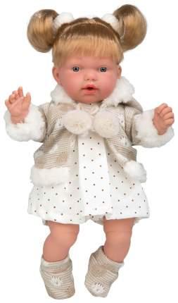 Кукла Arias Elegance в платьице в мелкий горошек, 28 см, арт. Т16342