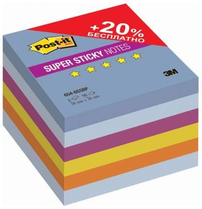 Блоки самоклеящиеся Post-it Воздух 76х76 мм, 6 цветов