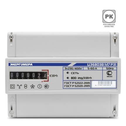 Счетчик электроэнергии Энергомера Цэ6803В/1 Р31 Счетчик Эл/Эн 3Ф 1Т 230В 10(100)А 7-Ми