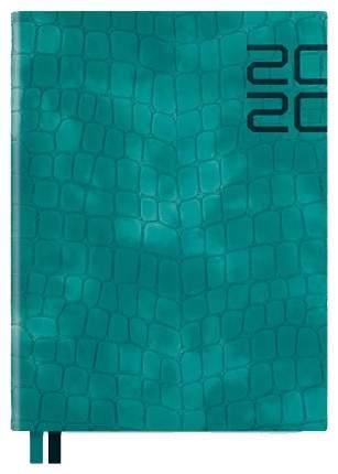 Ежедневник датированный на 2020 год Феникс+ «Кроко» А6+, 176 листов Бирюзовый