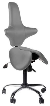 Двойное кресло-седло со спинкой EZDuo Back (цвет обивки: серый)