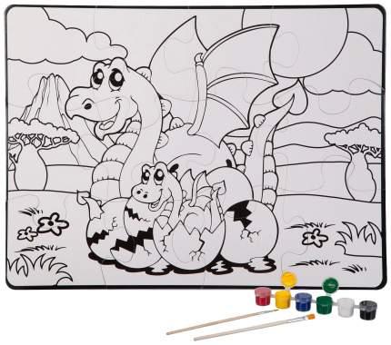 Пазл Bondibon Динозавры 12 элементов