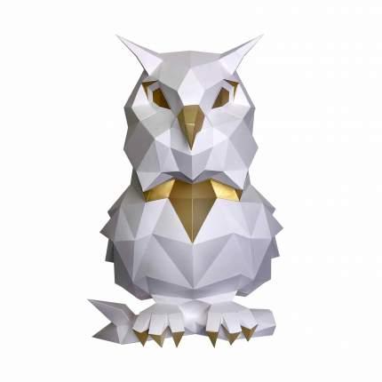 3D-конструктор Paperraz Сова Пухля (белая)