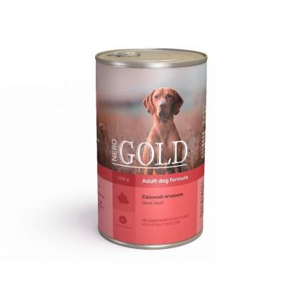 Консервы для собак NERO GOLD Adult Dog Formula, свежий ягненок, 1250г