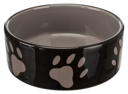 Миска для домашних животных TRIXIE, одинарная, керамика, коричневый, 300 мл