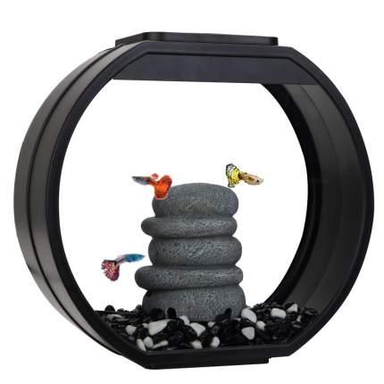 Аквариумный комплекс AA-Aquariums Deco O Mini UPG, черный, 10л