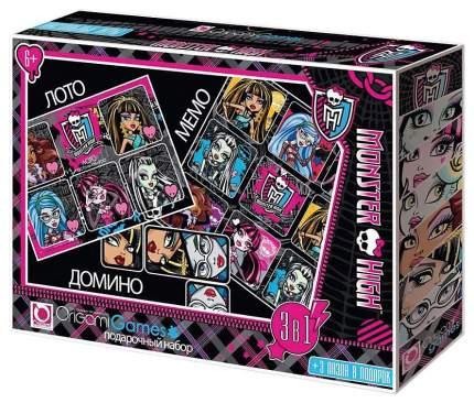 Настольная игра Origami Games Monster High 3В1 225