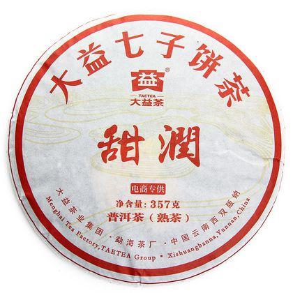 Чай Чайный лист тянь рун блин шу 357 г