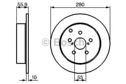 Тормозной диск BOSCH 0986479242