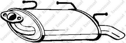 Глушитель выхлопной системы bosal 145611