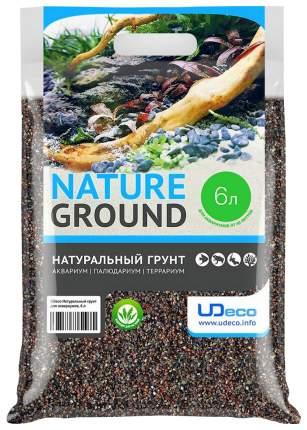 Натуральный песок для аквариумов и террариумов UDeco River Brown, бежевый, 0,6-2,5 мм, 6 л