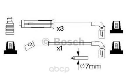 Комплект высоковольтных проводов BOSCH 0986356980