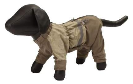 Дождевик для собак Зоо Фортуна размер M мужской, коричневый, зеленый, длина спины 32 см