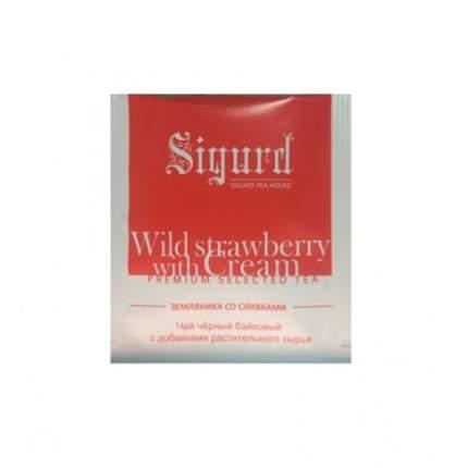 Чай черный Sigurd земляника со сливками в пакетиках 30 штук