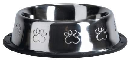 Одинарная миска для кошек и собак Beeztees, резина, сталь, серебристый, 1.8 л