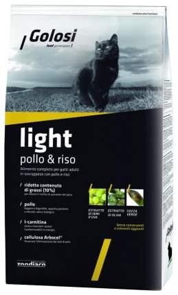 Сухой корм для кошек Golosi Light, при лишнем весе, курица и рис, 0,4кг