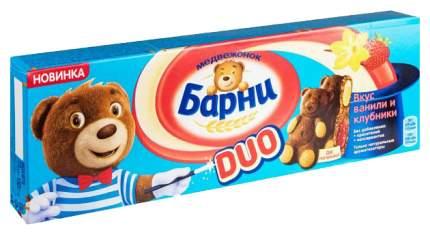 Пирожное бисквитное Барни duo вкус ванили и клубники 150 г