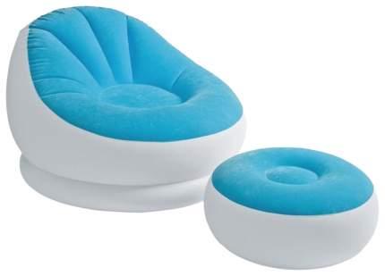 Кресло надувное Intex Cafe Chaise Chair с подставкой для ног 68572