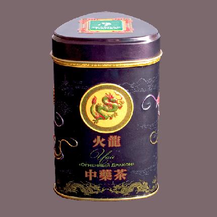 Чай черный Зеленая Панда крупнолистовой лапсан сушеный огненный драков 45 г