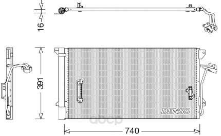 Радиатор кондиционера audi q7, vw touareg 02 Denso DCN02027
