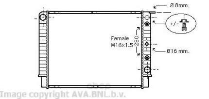 Pадиатор системы охлаждения Volvo S90, V90 94 Ava VO2098