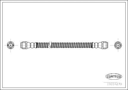 Шланг тормозной CORTECO 19034270