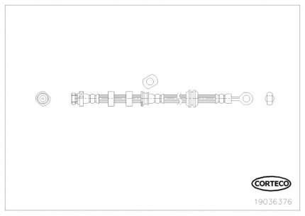 Шланг тормозной системы CORTECO 19036376